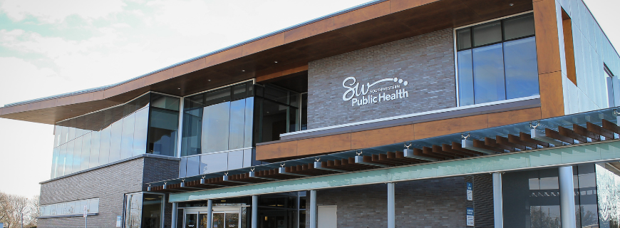 Exterior of public health building at 1230 Talbot Street