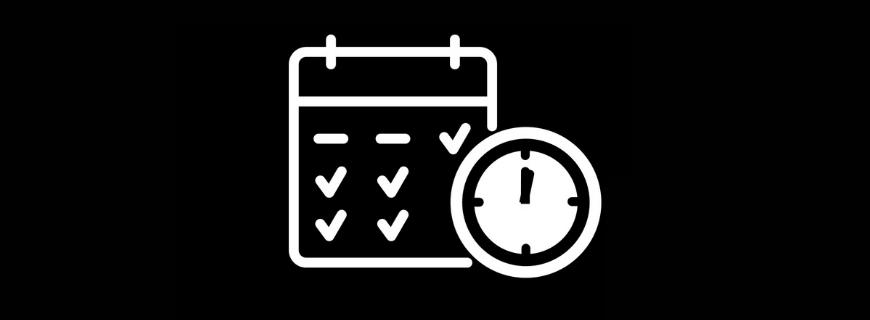 Clock and calendar icon indicating provincial shutdown