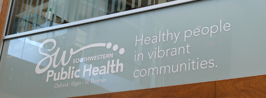 Photo of public health sign