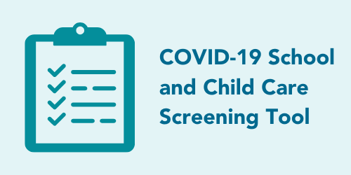 Click for the COVID-19 School Screening